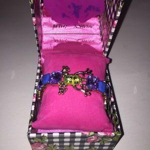 Betsey Johnson frog jewel bracelet in gift box